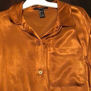 satin buttondown blouse